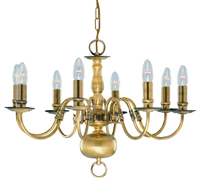 Picture of 8 Light Antique Brass Flemish Fitting