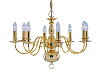 Picture of 8 Light Polished Brass Flemish Fitting