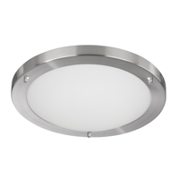 Picture of Bathroom Lighting 31cm Flush with 2D 16W IP44 Satin Silver
