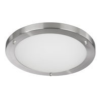 Picture of Bathroom Lighting 42cm Flush with 2D 28W IP44 Satin Silver
