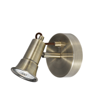 Picture of 1 Light Antique Brass Spotlight