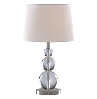 Picture of Satin Silver + Acrylic Table Lamp complete with Shade