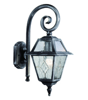 Picture of Genoa 1 Light Outdoor Wall Bracket - Black/Silver