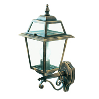 Picture of New Orleans Black/Gold Uplight Outdoor Wall Light