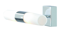 Picture of Chrome 2 Light Wall Bracket White Glass - IP44