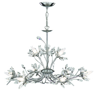 Picture of 9 Light Chrome Fitting with Flower Glass