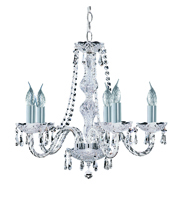 Picture of Hale 5 Light Georgian Crystal Fitting Chrome