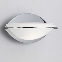 Picture of 1 Light Chrome Glass Curve Wall Bracket