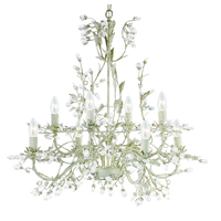 Picture of 8 Light Cream Gold Fitting Complete with Crystal Dress