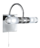 Picture of Chrome 2 Light Wall Bracket IP44 Bathroom