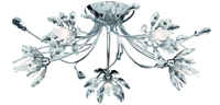 Picture of 5 Light Chrome Flush with Flower Glass