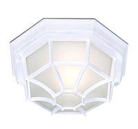 Picture of Outdoor & Porch Cast Aluminium White Hexagonal Flush Fitting
