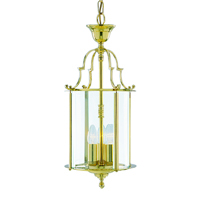 Picture of 25CM 3 Light Brass Lantern