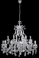 Picture of Marie Therese Italian Style Chrome Finish Crystal Glass Chandelier