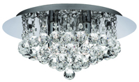 Picture of Hanna 4 Light Chrome Flush Crystal Ball