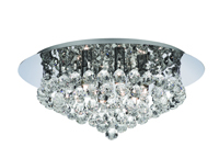 Picture of Hanna 6 Light Chrome Flush Crystal Ball