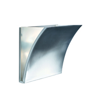 Picture of Satin Silver Wall Light Frosted Glass Panel