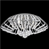 Picture of Chrome 5 Light Fitting - Crystal Buttons/Drops