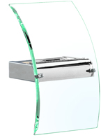 Picture of Bevelled Curved Glass Wall Bracket