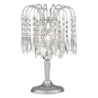 Picture of Waterfall Chrome 1 Light Table Lamp Complete with Crystal