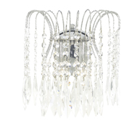 Picture of Waterfall 2 Light Chrome Shower Wall Bracket Complete with Crystal