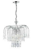 Picture of Waterfall Chrome 3 Light 38cm Crystal Pendant