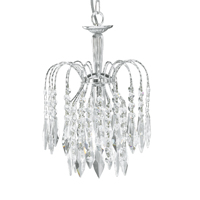 Picture of Waterfall Chrome 1 Light Shower Crystal Pendant