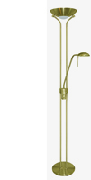 Picture of Halogen Mother & Child Floor Lamp - Satin Brass Finish