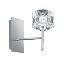Picture of 1 Light Wall Bracket with Ice Cube - Satin Silver