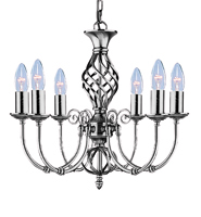 Picture of Zanzibar Satin Silver 6 Light Fitting