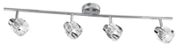 Picture of Chrome 4 Light Spot Bar - Clear Glass Shade