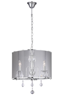 Picture of 3 Light Chrome Fitting with Metallic Silver Shade
