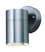 Picture of Satin Silver Outdoor 1 Light Tube Wall Bracket