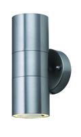 Picture of Satin Silver Outdoor 2 Light Tube Wall Bracket
