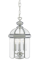 Picture of Lantern - Bevelled Domed Chrome 3 Light