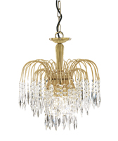 Picture of Waterfall 3 Light 60W 38cm Crystal Pendant