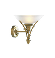 Picture of Twist Antique Brass Wall Bracket - Acid Glass