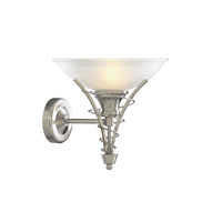 Picture of Twist Satin Silver Wall Bracket/ Acid Glass