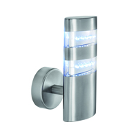 Picture of Satin Silver Oval Wall Bracket - 24 LEDS