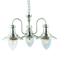 Picture of Satin Silver 3 Light Fisherman Fitting