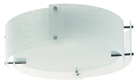 Picture of 3 Light 4 Panel Frosted Glass Semi Flush