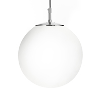"Picture of 10"" Opal Ball/ Satin Silver Suspension"