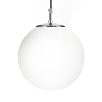 "Picture of 12"" Shiny Opal Ball/Satin Silver Suspension"