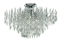 Picture of 4 Light Chrome Shower Crystal Semi Flush