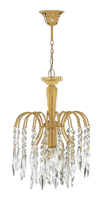 Picture of Gold Plated Finish Shower Waterfall Pendant