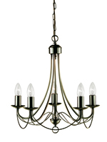 Picture of Nova 5 Light Antique Brass Fitting