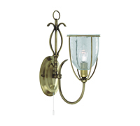 Picture of Silhouette 1 Light Antique Brass Wall Bracket