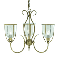 Picture of Silhouette 3 Light Antique Brass Fitting