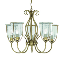 Picture of Silhouette 5 Light Antique Brass Fitting