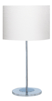 Picture of Chrome Round Base Table Lamp - Ivory Shade